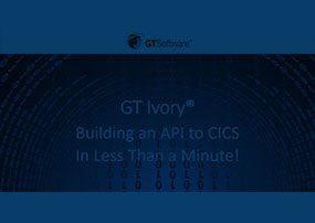 Ivory: Building a RESTful CICS API in Less Than a Minute