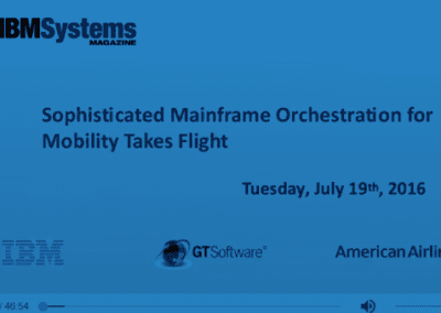 Sophisticated Mainframe Orchestration for Mobility Takes Flight